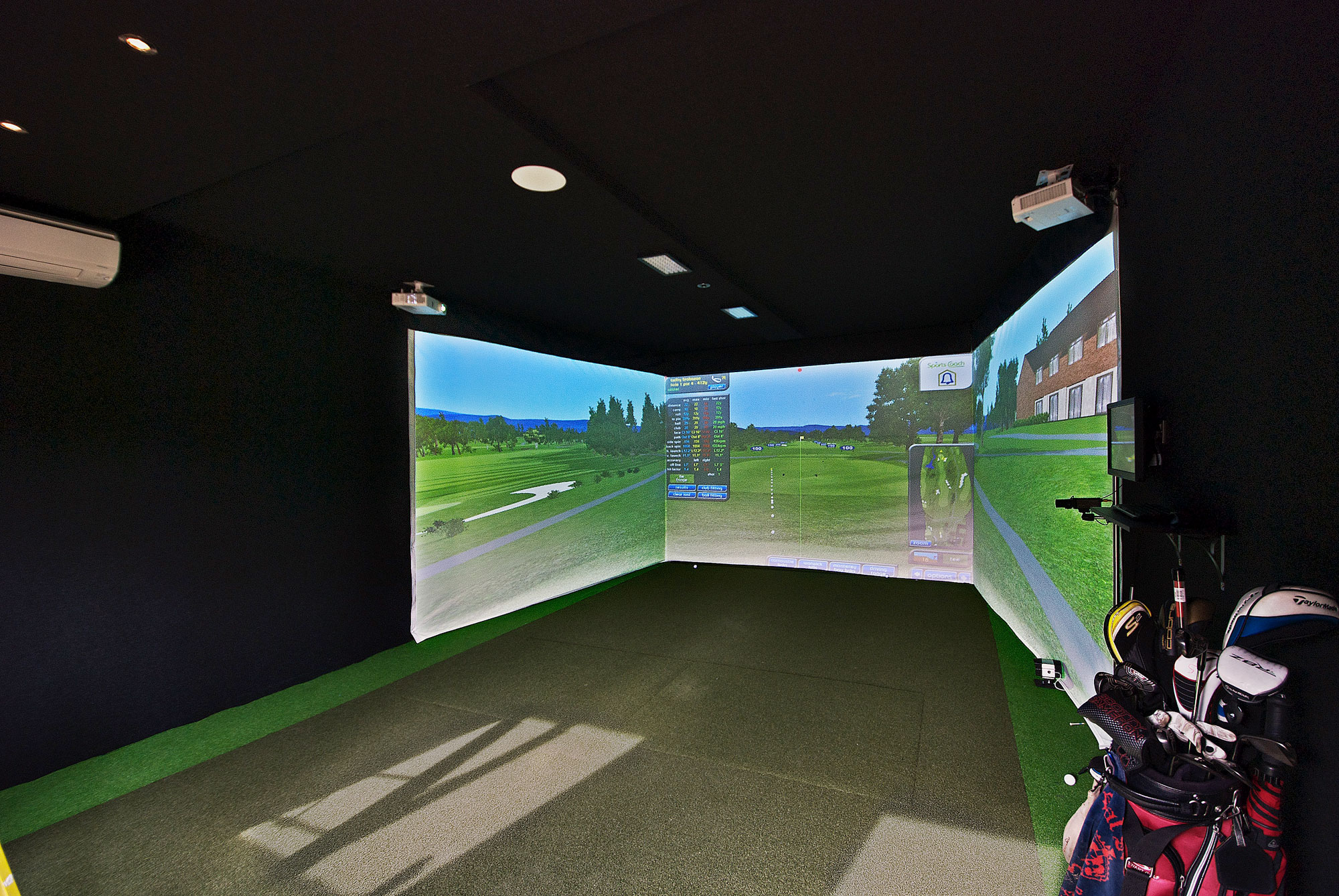 Garden Golf Simulator Cabin Cre8tive Rooms